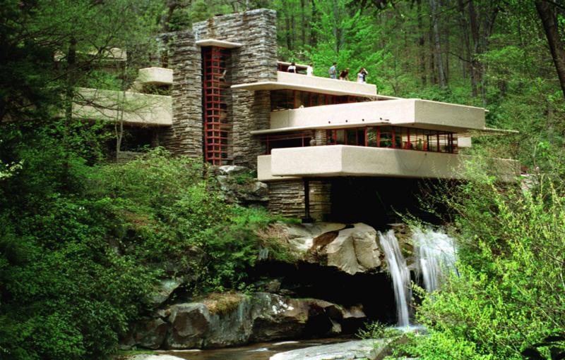 Ceramiche pronte la natura nell architettura dalla for Frank lloyd wright style piani per la casa